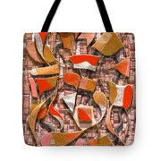 Oars And Rudders -- Orange Tote Bag
