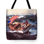 Obama At Sea Tote Bag