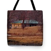 Obear Park At Sunset In Winter Tote Bag