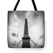 Obelisk And Big Wheel At Place De La Concorde, Paris Tote Bag