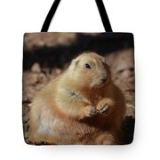 Obese Prairie Dog Sitting In A Pile Of Dirt Tote Bag