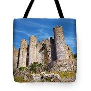 Obidos Castle Tote Bag by Carlos Caetano