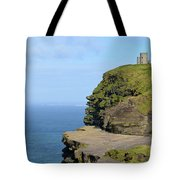 O'brien's Tower Along The Cliff's Of Moher In Ireland Tote Bag