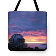 Observatory Sunset Tote Bag
