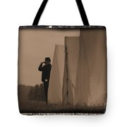 Observing The Field Of Battle Tote Bag