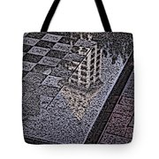 Occidental Park Checkerboard Tote Bag