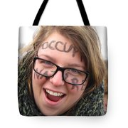 Occupy Nature Face Paint At Political Demonstration Tote Bag