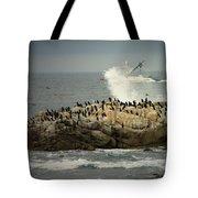 Ocean Angel II Splashed And Birds Tote Bag