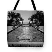 Ocean Behind Fountain Tote Bag