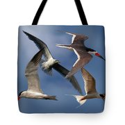 Ocean Bird Collage Tote Bag