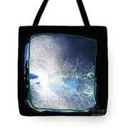 Ocean - Black And White Abstract Tote Bag
