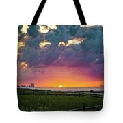 Ocean City Cloudy Sunrise Tote Bag