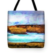 Ocean Cliffs Tote Bag