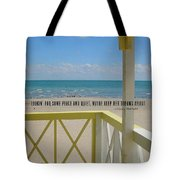 Ocean Dreaming Quote Tote Bag