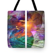 Ocean Fire Tote Bag
