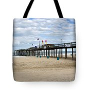 Ocean Fishing Pier Tote Bag