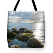 Ocean Flickering Under Sunset Tote Bag