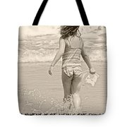 Ocean Moment Quote Tote Bag