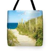 Ocean Path In Cornwall Tote Bag