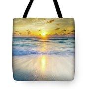 Ocean Reflections At Sunrise Tote Bag