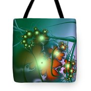 Ocean Secrets Abstract Tote Bag
