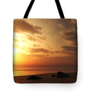 Ocean Side Sunset Tote Bag
