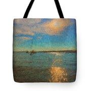Ocean Sun Path At Boothbay Harbor Tote Bag