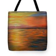Ocean Sunrise- Oil Painting- Abstract Art Tote Bag