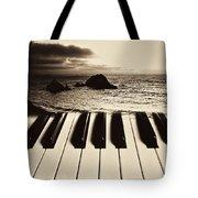 Ocean Washing Over Keyboard Tote Bag by Garry Gay