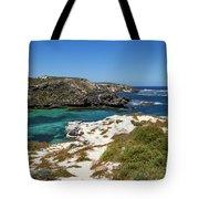 Ocean Water And Rocks Tote Bag