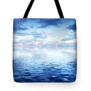 Ocean With Calm Waves Background With Dramatic Sky Tote Bag