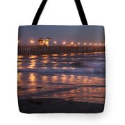 Oceanside Pier In The Mist Tote Bag