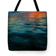 Oceanside Reflective Sunset Tote Bag