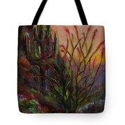 Ocotillo At Sunset Tote Bag