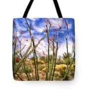 Ocotillos In Bloom Tote Bag