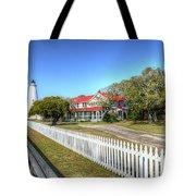 Ocracoke Lighthouse, Ocracoke Island, Nc Tote Bag