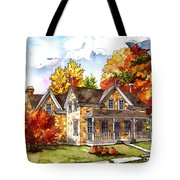 October At The Farm Tote Bag