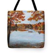 October Morn At Walden Pond Tote Bag