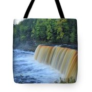 October Morning At Upper Tahquamenon Falls Tote Bag