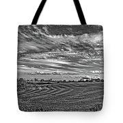 October Patterns Bw Tote Bag