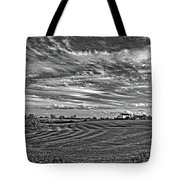 October Patterns Bw Tote Bag