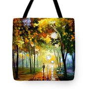 October Reflections - Palette Knife Oil Painting On Canvas By Leonid Afremov Tote Bag