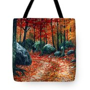 October Woodland Tote Bag