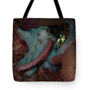 Octopus On Night Dive Tote Bag