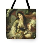 Odalisque Tote Bag by Jean Baptiste Ange Tissier