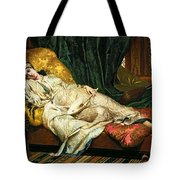 Odalisque With A Lute Tote Bag by Hippolyte Berteaux