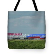 Odd Couple Delta Airlines Southwest Airlines Art Tote Bag