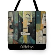 Odd Fellows Triptych Tote Bag