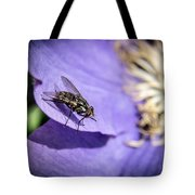 Odd Fly On Clematis Tote Bag