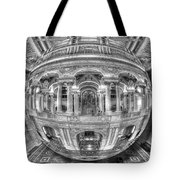 Ode To Mc Escher Library Of Congress Orb Horrizontal Tote Bag